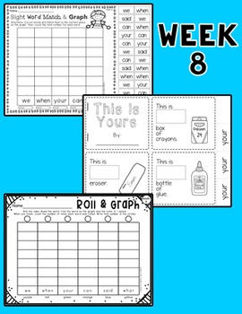 Weekly Sight Word Pack- Week 8