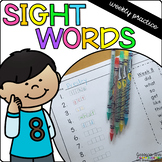Sight Word Weekly Practice