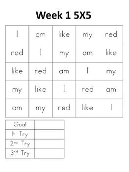 Weekly Sight Word Practice (set 1)