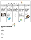 Weekly Sight Word Routine