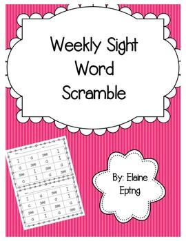 Weekly Sight Word Scramble