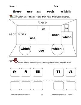 Weekly Sight Word Solutions