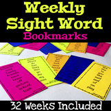 Weekly Sight Words Bookmarks