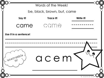 Weekly Sight Words-Dolch Primer Edition