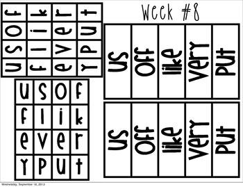 Weekly Sight Words: Read, Write & Build FREEBIE