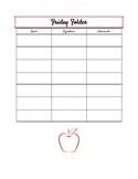 Weekly Signature Sheet