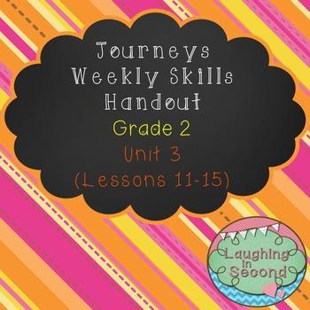 Weekly Skills Handout - Grade 2 - Houghton Mifflin Journeys (Unit 3)