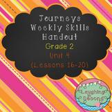 Weekly Skills Handout - Grade 2 - Houghton Mifflin Journeys (Unit 4)