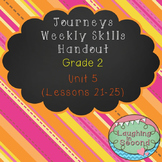 Weekly Skills Handout - Grade 2 - Houghton Mifflin Journeys (Unit 5)