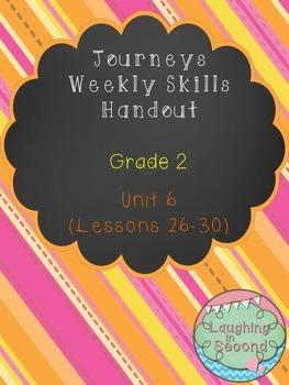 Weekly Skills Handout - Grade 2 - Houghton Mifflin Journeys (Unit 6)
