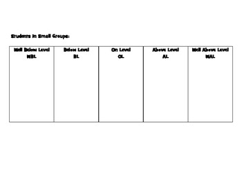 Weekly Small Group Template
