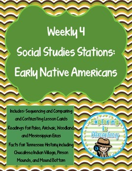 Weekly Social Studies Center: Early Native Americans