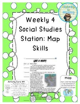 Weekly Social Studies Center: Map Skills