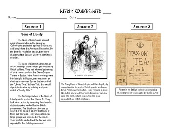 Weekly Source Study: American Revolution