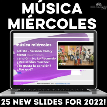 Para Empezar: Música miércoles - Authentic music for Spanish class