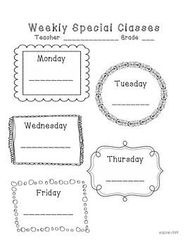 Weekly Specials