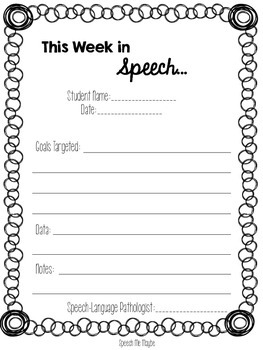 Weekly Speech Note