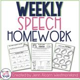 Weekly Speech Therapy Homework!