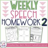Weekly Speech Therapy Homework 2