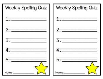 Weekly Spelling
