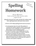 Weekly Spelling Activities