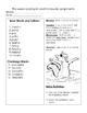 Weekly Spelling Homework 6