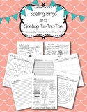 Spelling Bingo and Tic-Tac-Toe Boards, Assignment Sheets, Word Work