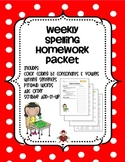 Weekly Spelling Homework Packet
