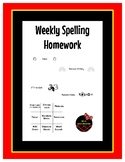 Weekly Spelling Homework Packet (Works for Any Word List)