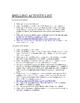 Weekly Spelling List & Activities