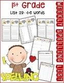 Weekly Spelling Lists 1st Gr List 28 (-i-e words)