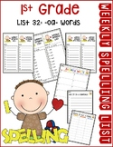 Weekly Spelling Lists 1st Gr List 32 (-oa- words)