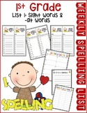 Weekly Spelling Lists 1st Grade List 1 (Sight words & -at words)