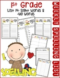 Weekly Spelling Lists 1st Grade List 14 (Sight words & -ug words)