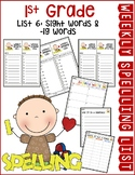 Weekly Spelling Lists 1st Grade List 6 (Sight words & -ig words)