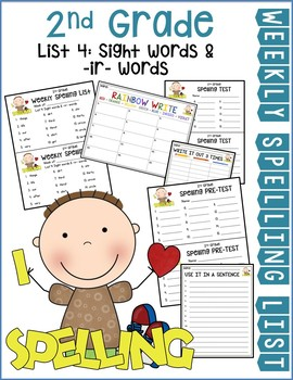 Weekly Spelling Lists 2nd Gr List 4 (Sight words & -i- words)
