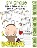 Weekly Spelling Lists 3rd Gr List 1 (Sight words & Short a