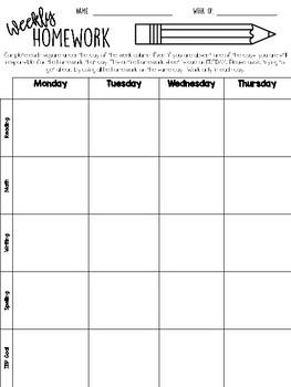 Weekly Homework PDF