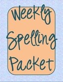 Weekly Spelling Packet with Graphic Organizers