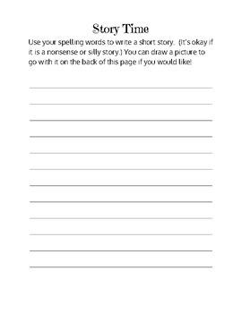 Weekly Spelling Practice Packet
