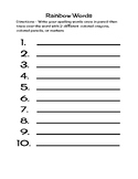 Weekly Spelling Practice Packet
