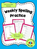 Weekly Spelling Review Pages