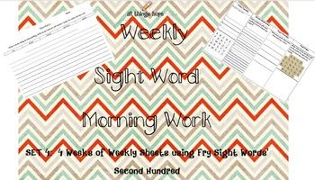 Weekly Spelling Sheet Set 4