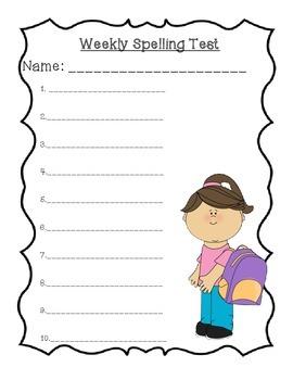 Weekly Spelling Test