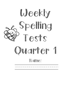 Weekly Spelling Test Book