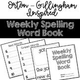 Weekly Spelling Word Book