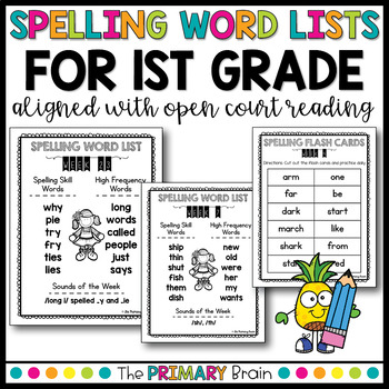 Weekly Spelling Word Lists for First Grade Aligned with Open Court Sequence