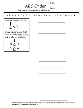 weekly spelling worksheets for kids with autism by hailey deloya. Black Bedroom Furniture Sets. Home Design Ideas