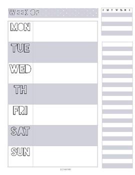 Weekly Spreadsheet Planner