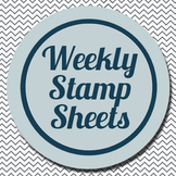 Weekly Stamp Sheet: Classroom Management Strategy